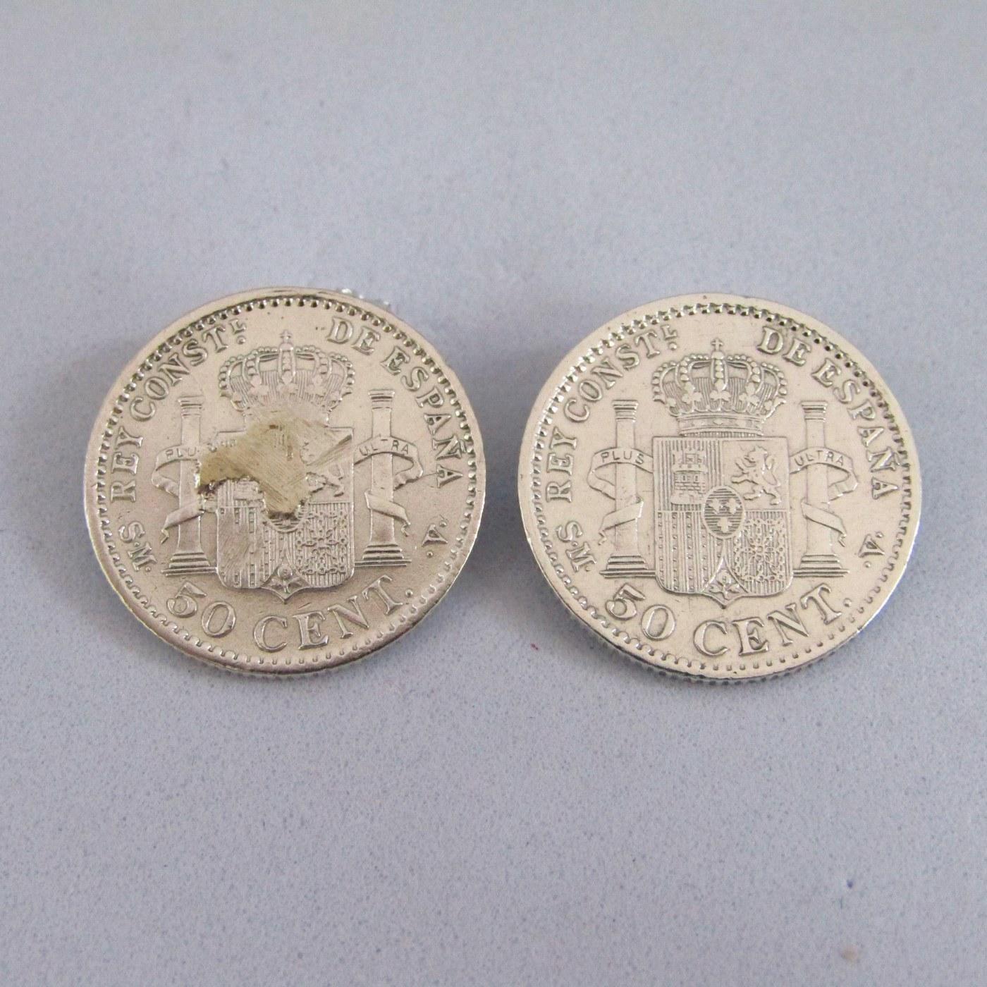 2 Monedas de 50 centimos de plata ALFONSO XIII.Año 1904. (*0.4.) SM V. EBC.