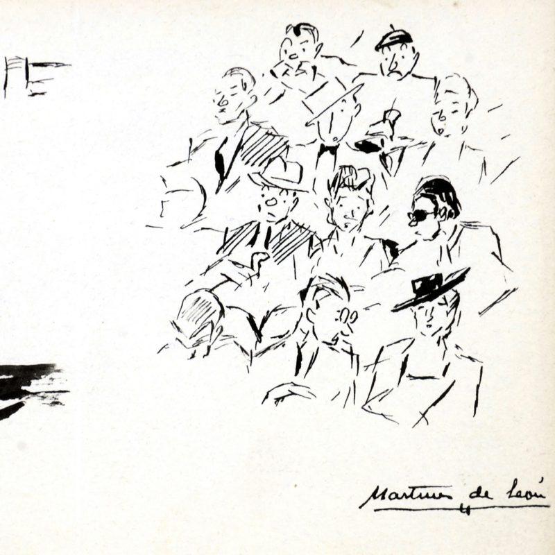 "ANDRÉS MARTÍNEZ DE LEÓN. Dibujo a plumilla. """"Escenas taurinas"""""