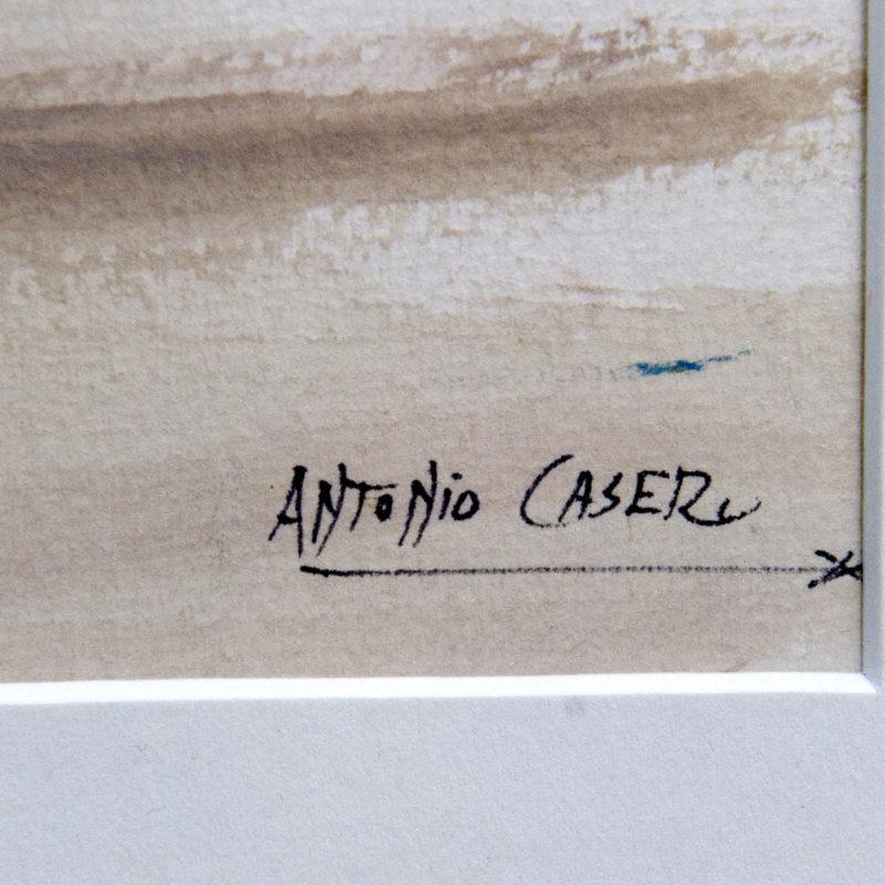 """ANTONIO CASERO SÁNZ. Acuarela sobre cartón. """"""""Escena Galante en los Toros"""""""