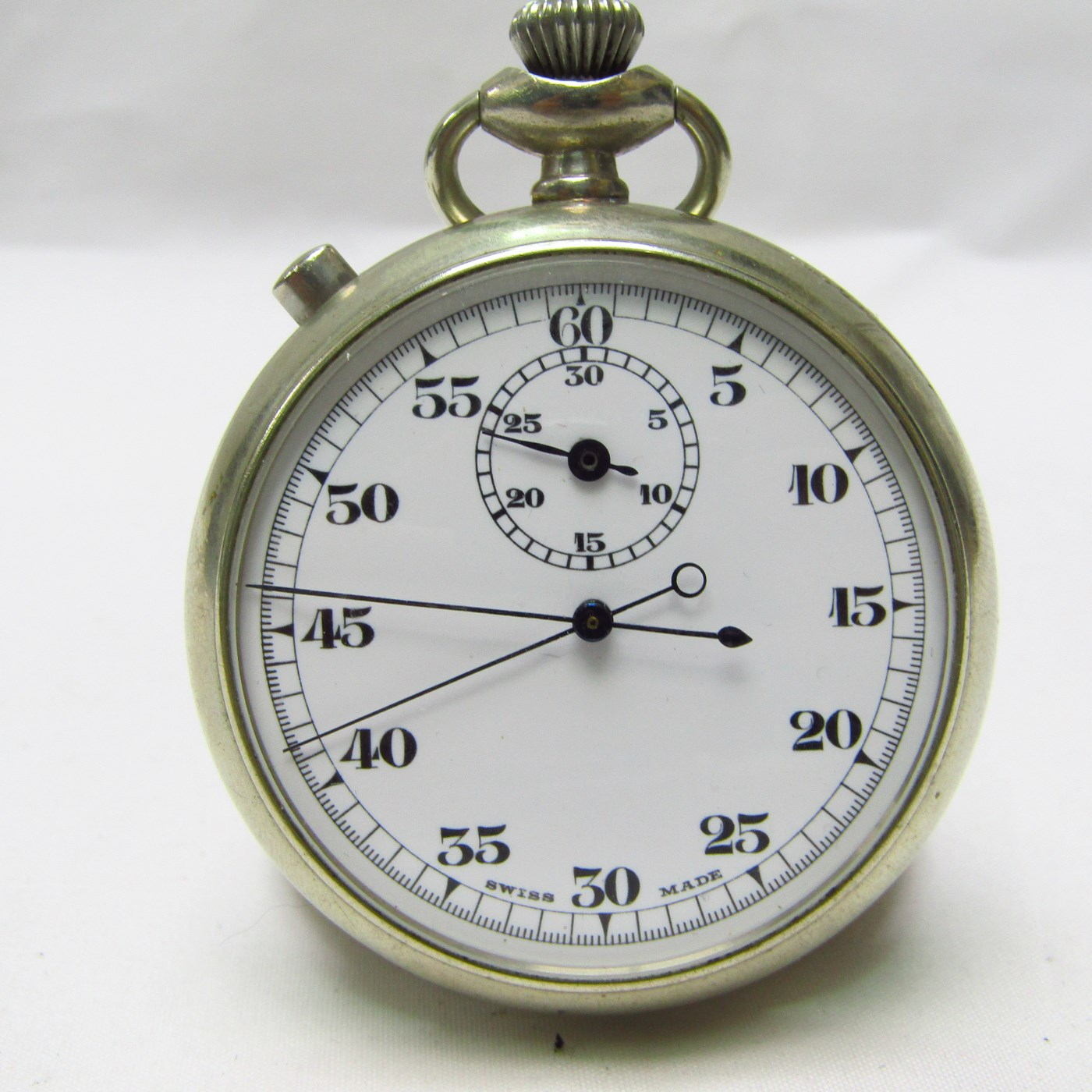 Cronómetro Suizo de Bolsillo, lepine, de Doble Ratrapante. Ca. 1900