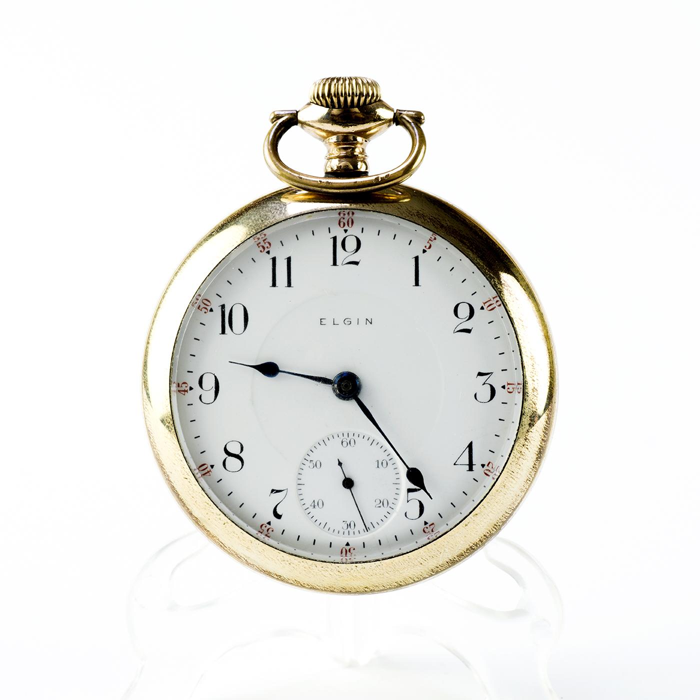 ELGIN ILL. (Overland, USA). Reloj de Bolsillo, Lepine y remontoir. USA, año 1905.