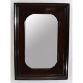 Espejo rectangular en madera de caoba. Siglo XIX.