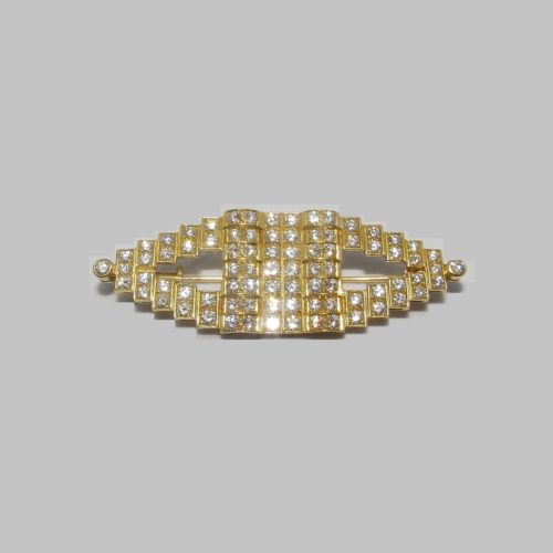 Gregory. Broche de Oro de 18k. Con 82 Diamantes Naturales, talla Brillante, de 3,81 ct. (F-G/VVS)