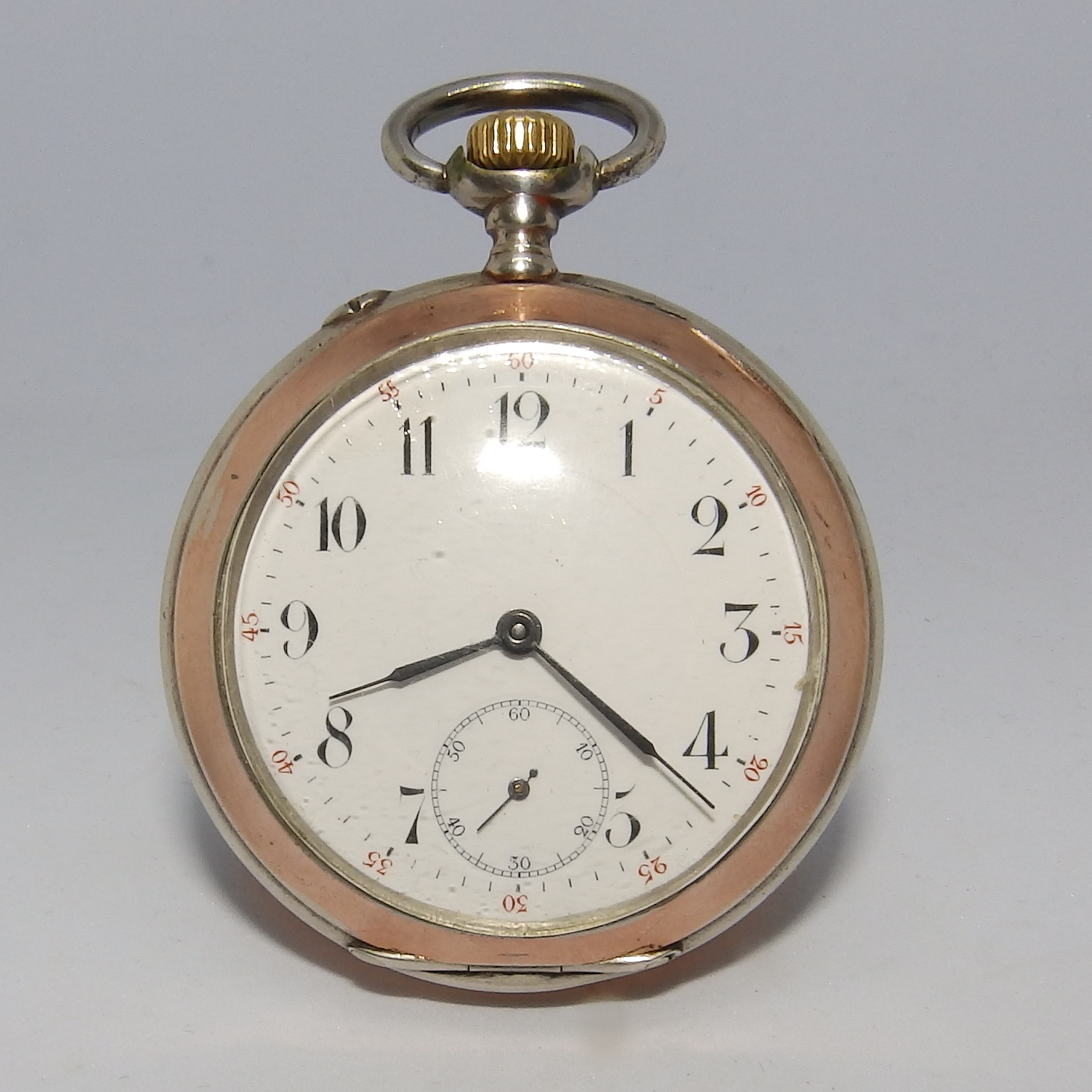IWC (International Watch Company). Reloj de Bolsillo, Lepine y remontoir. Suiza, año 1907.