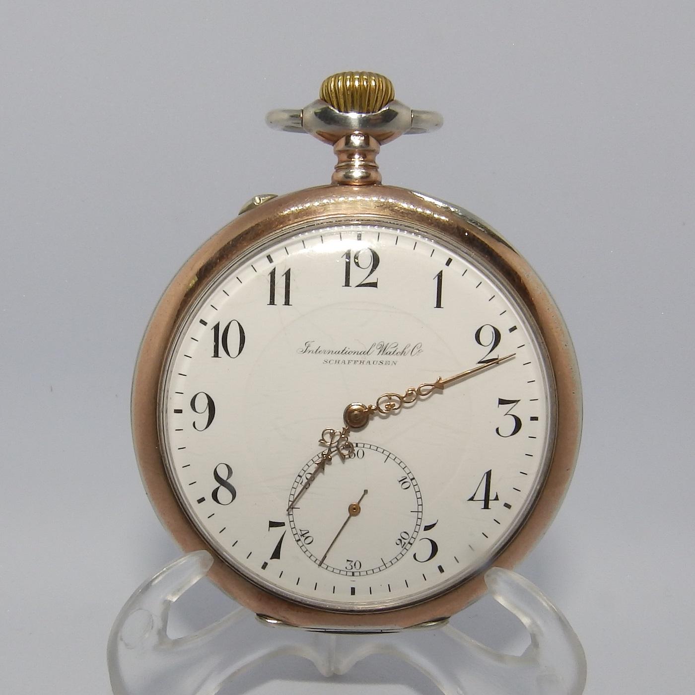 IWC (International Watch Company). Reloj de Bolsillo, Lepine y remontoir. Suiza, año 1917.