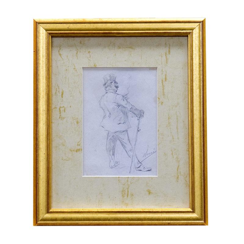 José Denis Belgrano (Málaga, 1844-1917). Dibujos a Lápiz, doble cara. Siglo XIX.