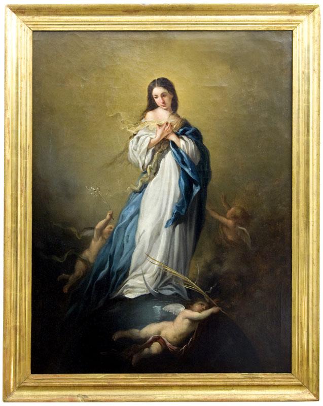 """JOSÉ MARÍA RODRÍGUEZ DE LOSADA. Óleo sobre lienzo. """"""""Inmaculada"""""""