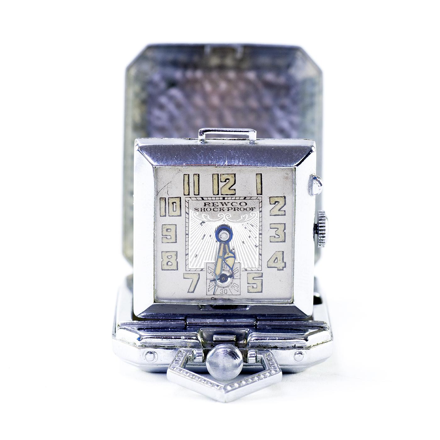 L&L Watch Co. Reloj suizo de bolsillo-sobremesa, saboneta y remontoir. Suiza, ca. 1915
