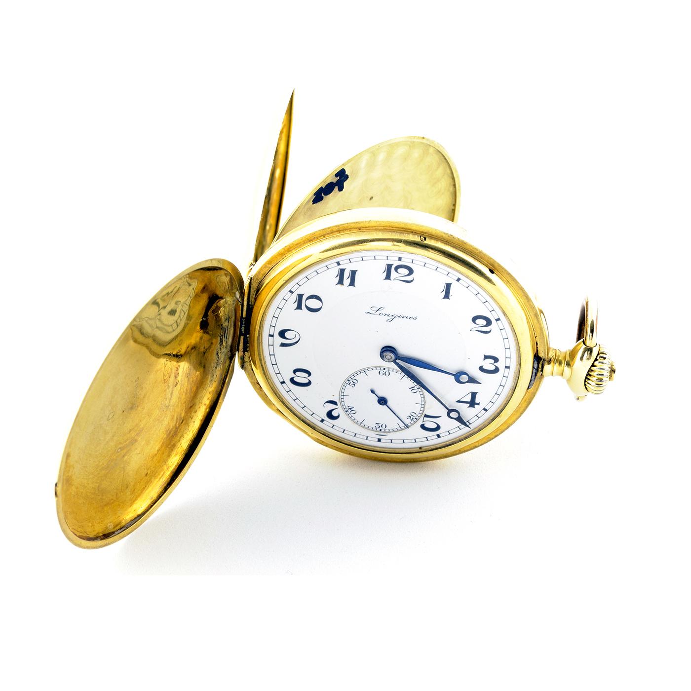 Longines. Reloj de Bolsillo saboneta y remontoir. Año, 1926.