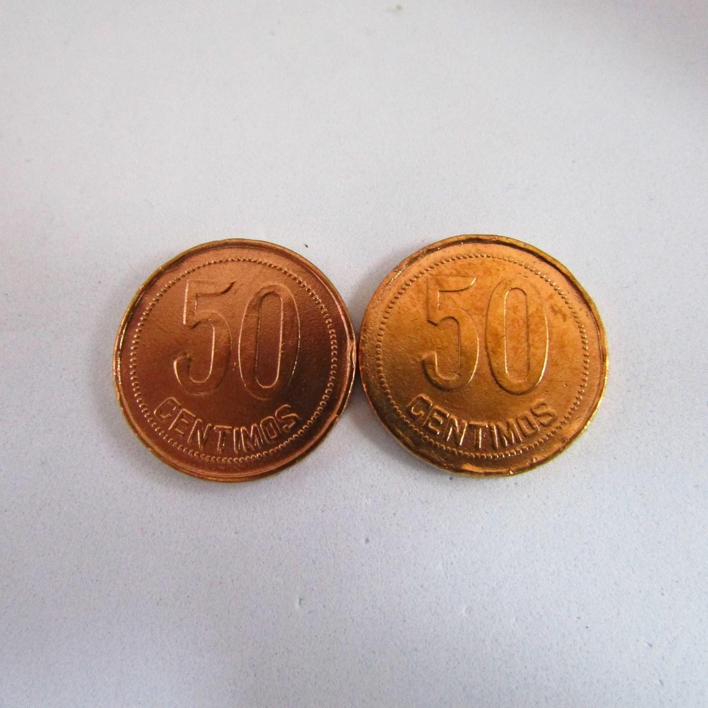 Lote de dos monedas de 50 CENTIMOS. II REPUBLICA. 1937. COBRE. MBC.