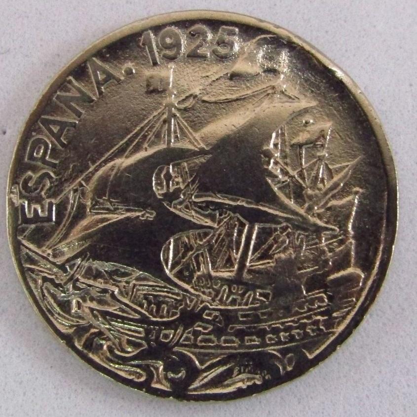 MONEDA DE 25 CENTIMOS.AÑO 1925 ALFONSO XIII. NIQUEL.