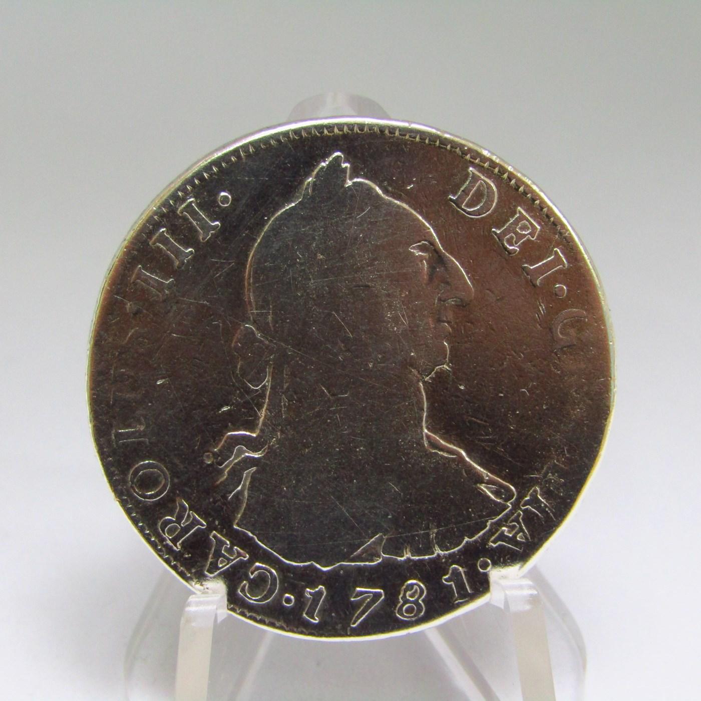 Moneda de 4 reales de PLATA. CARLOS III. Año 1781. POTOSI. P.R.
