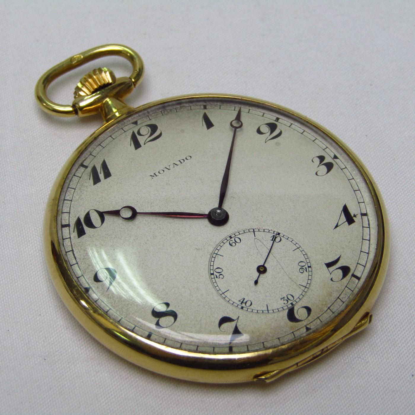 Movado. Reloj de Bolsillo, Lepine y Remontoir. Pps. Siglo XX.