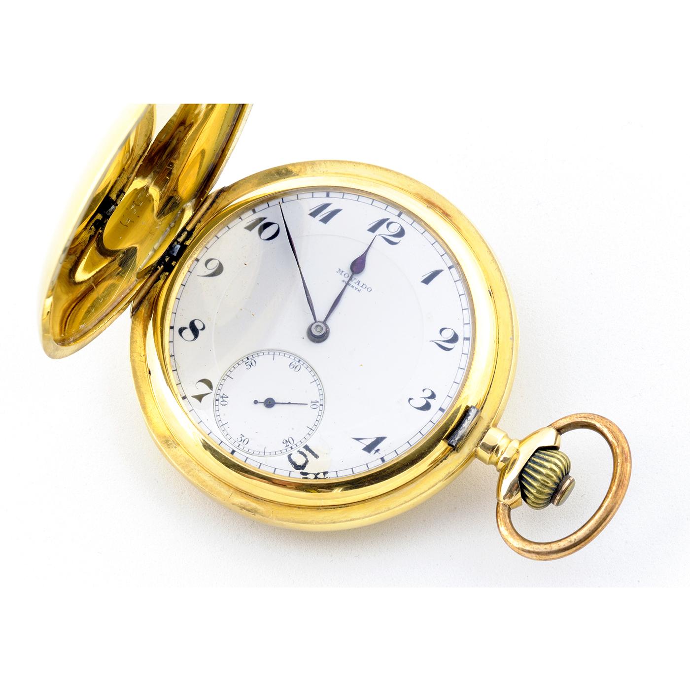 Movado. Reloj de Bolsillo saboneta. Circa, 1900.