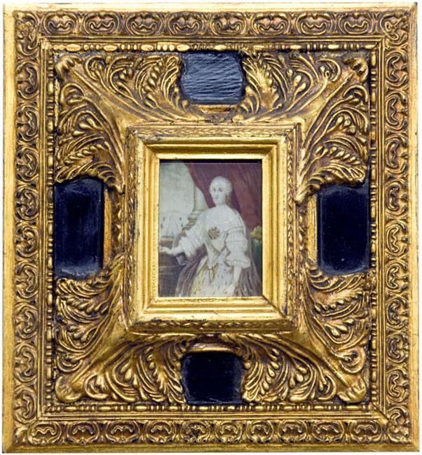 ÓLEO SOBRE PLACA RECTÁNGULAR DE MARFIL. Siglo XVIII-XIX