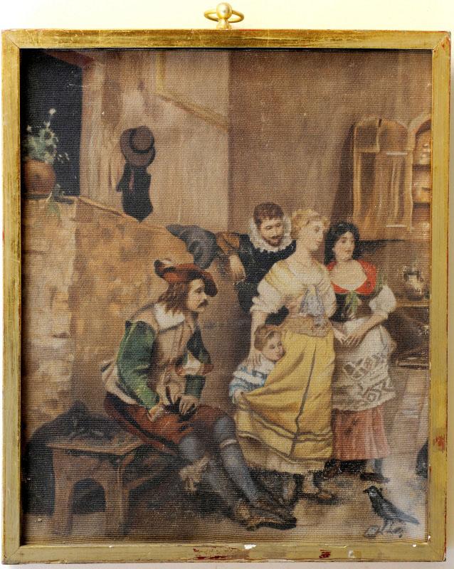 OLEO SOBRE TAPIZ. Siglo XVIII
