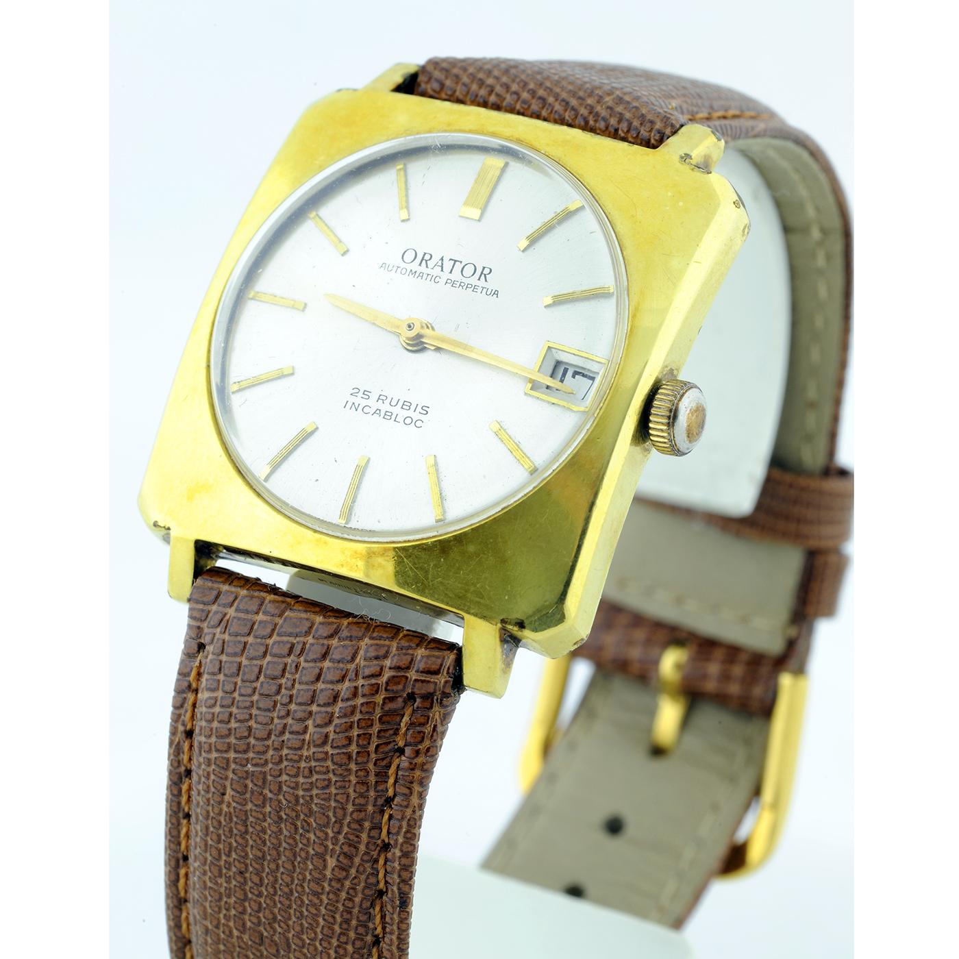 ORATOR. Automatic Perpetua. Reloj para caballero. Ca. 1980.