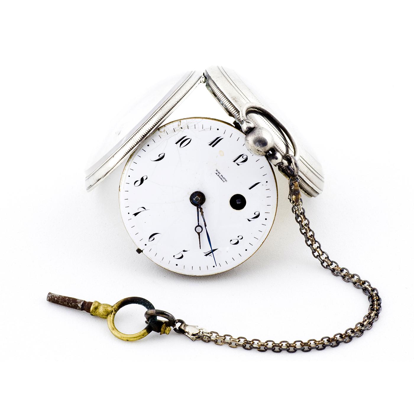 Reloj de bolsillo, lepine, Verge Fusee (Catalino), para caballero. Pps.siglo XIX