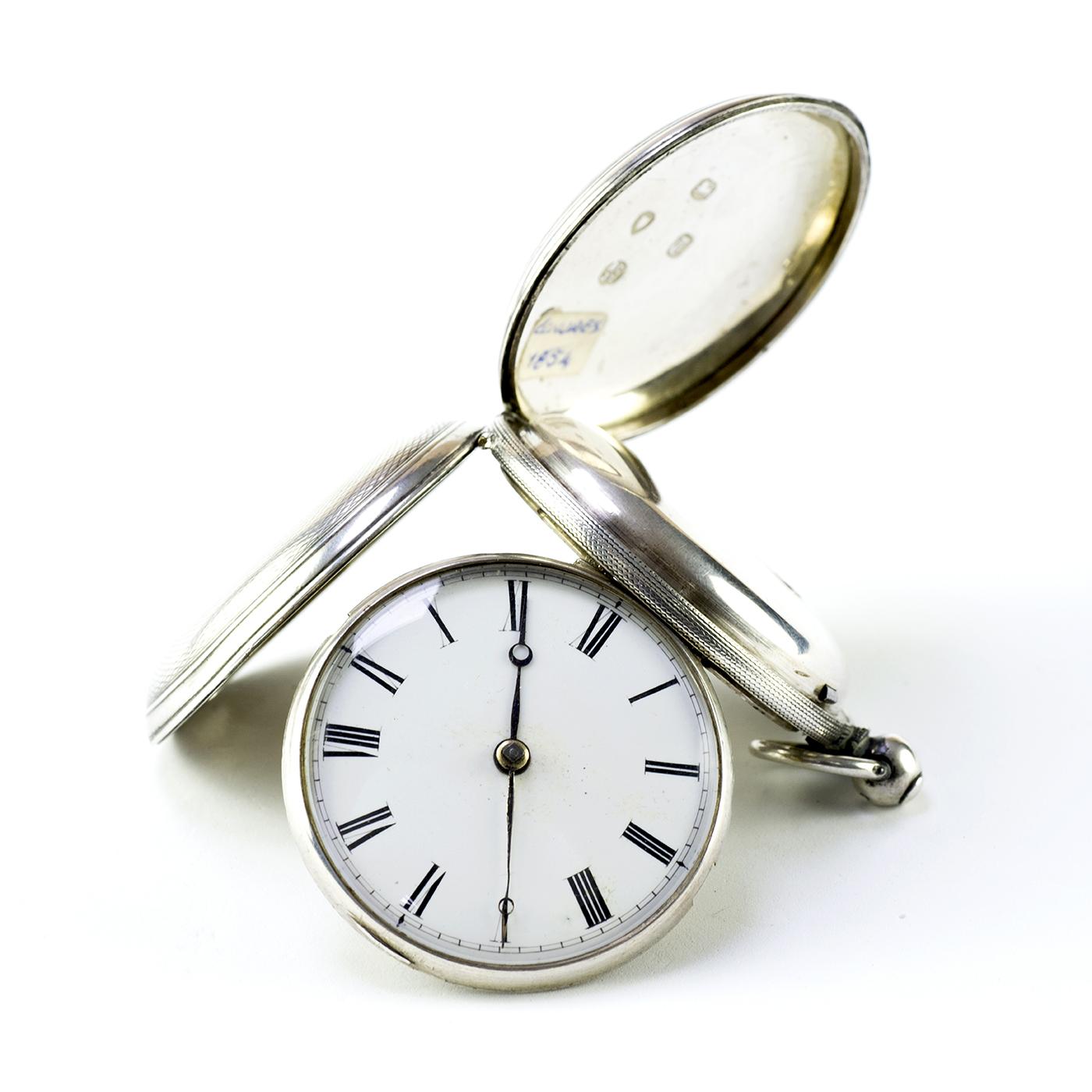 Reloj Inglés de Bolsillo, saboneta, Verge Fusee (Catalino), Londres, 1854.