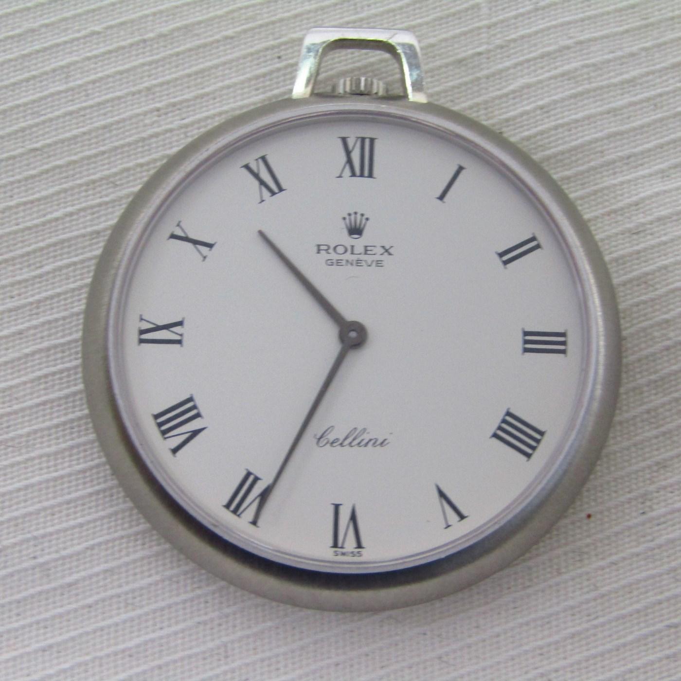 ROLEX Cellini. Reloj de Bolsillo, lepine y remontoir.