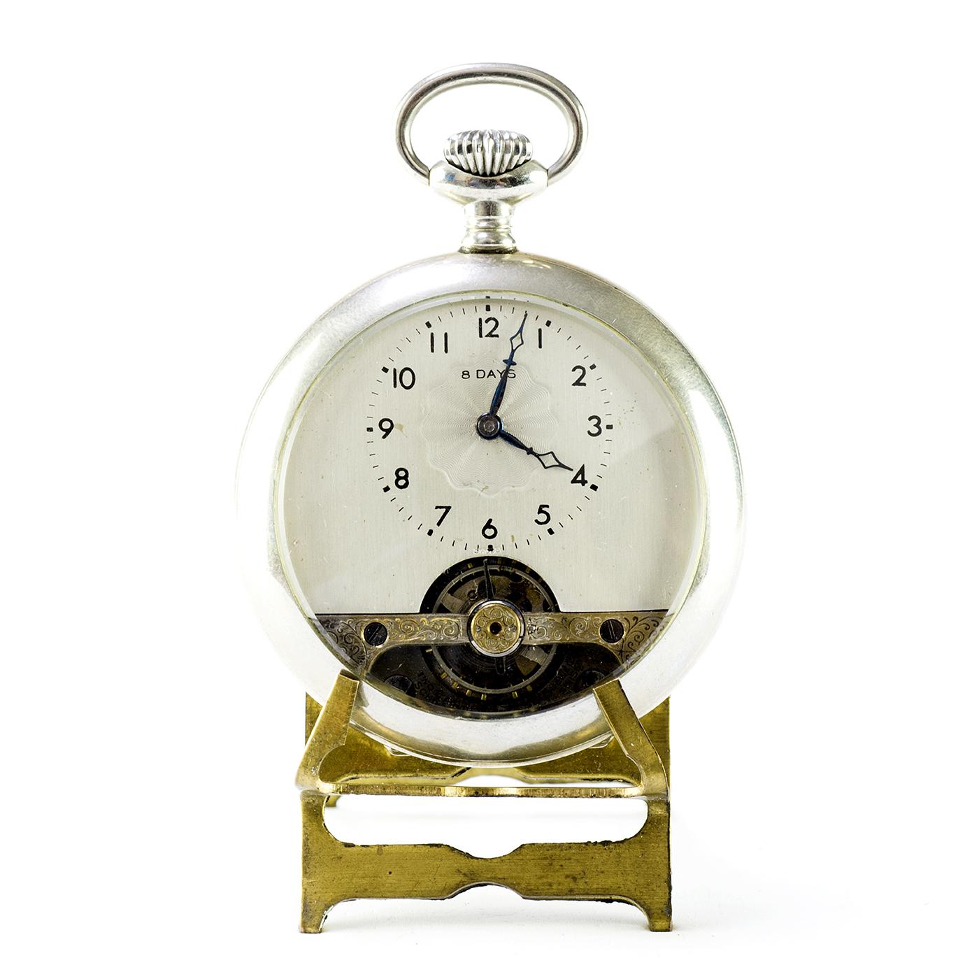 "SCHILD & Co. (Suiza). Reloj de bolsillo lepine, remontoir, ""ocho días cuerda"". Ca. 1900."