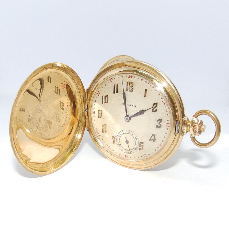SILVANA (Suiza). Reloj de Bolsillo para Caballero, Saboneta y Remontoir. Ca. 1900