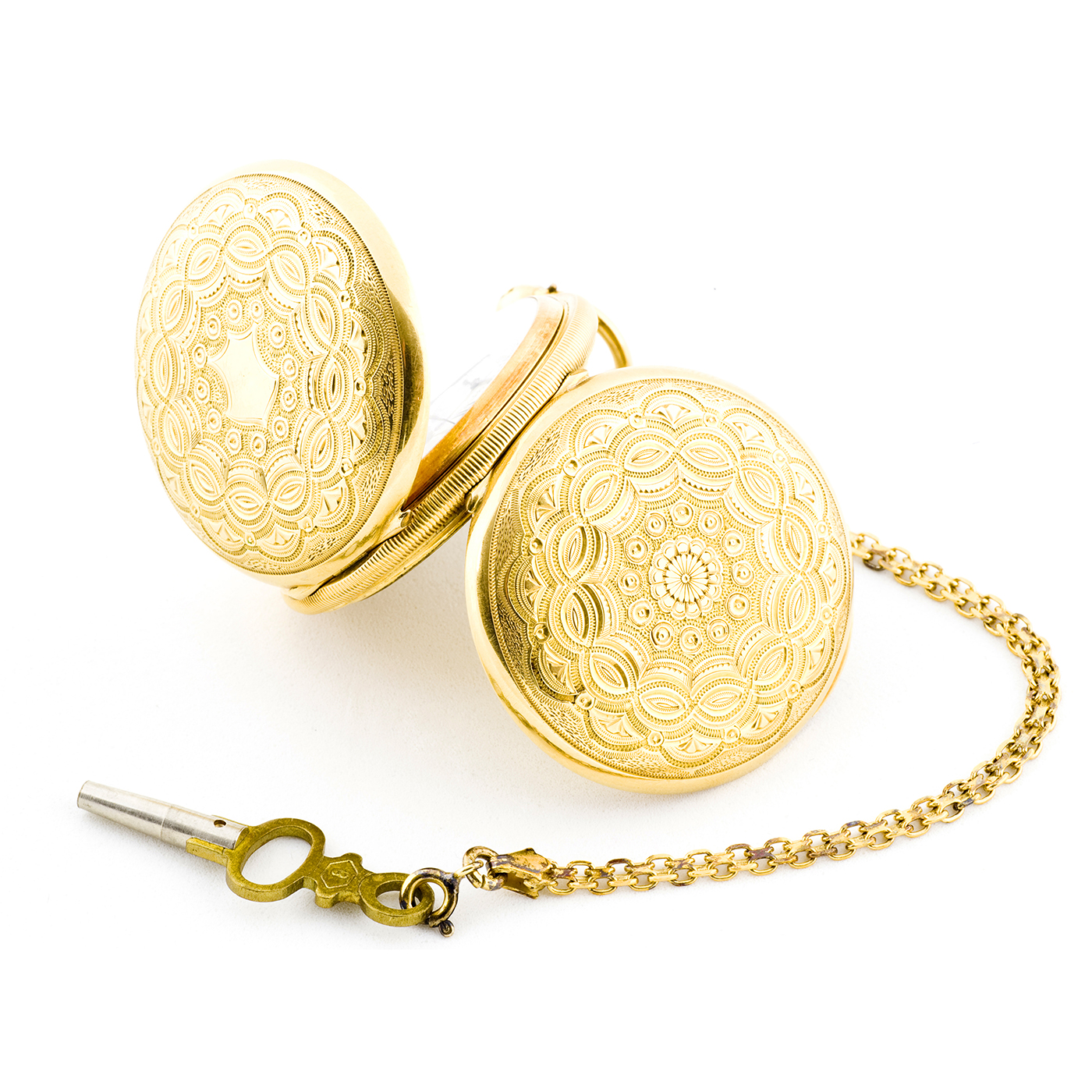 THOMAS RUSSELL. London. Reloj de bolsillo y colgar, saboneta. Oro de 18k. Ca.,1870-80.