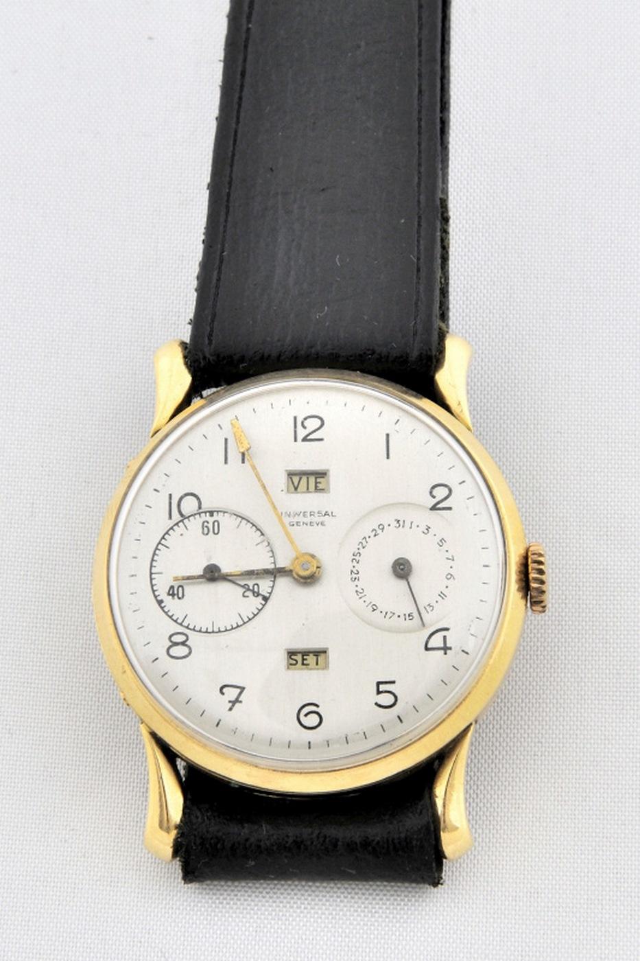 Universal Geneve. Reloj de pulsera de Funciones Complejas. Ca. 1945