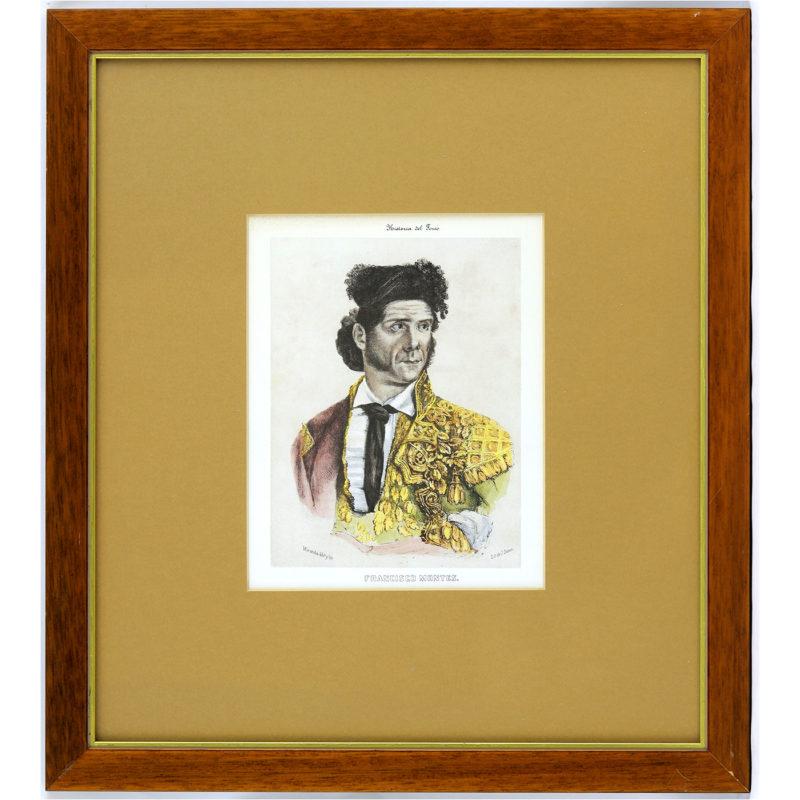 VARIOS: J. DUNON, URRABIETA, MIRANDA. Colección de Nueve Litografías taurinas.