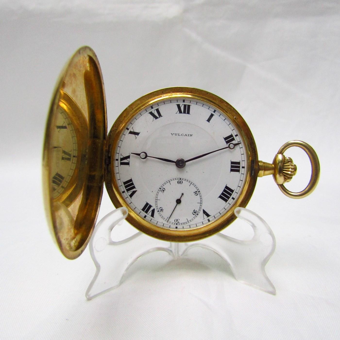 VULCAIN. Reloj de Bolsillo, saboneta y Remontoir. Suiza, ca. 1890.