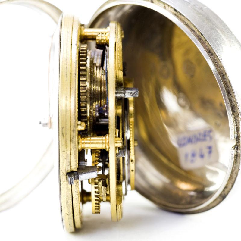 WM. JANNER (Cliffe-Lewes). Reloj Inglés de Bolsillo para caballero, lepine, Verge Fusee (Catalino). Inglaterra, 1847.