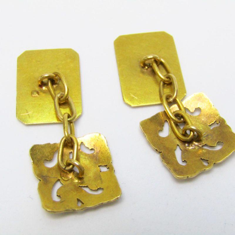 Juego de pasadores de camisa en Oro amarillo de 18k. 7,47 gr.