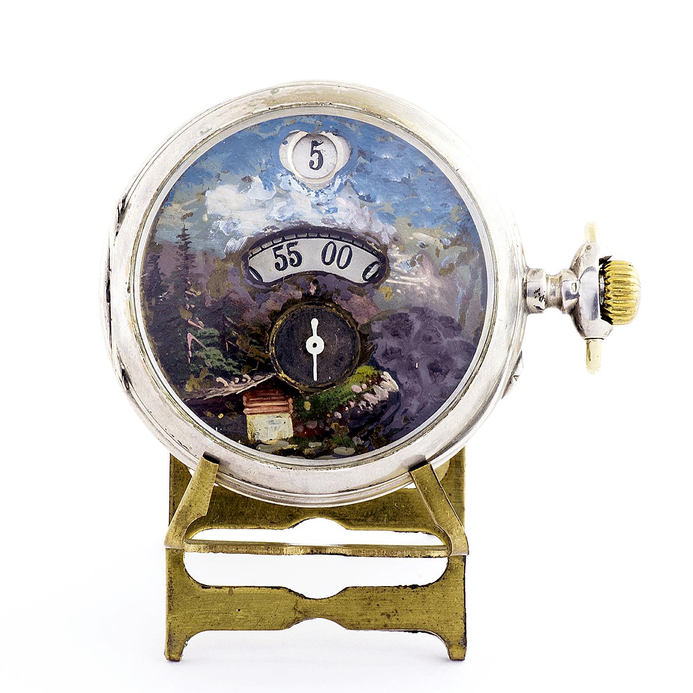 Fabricante Suizo - Horas y Minutos Saltantes - Reloj de bolsillo para Hombre. Ca. 1890.