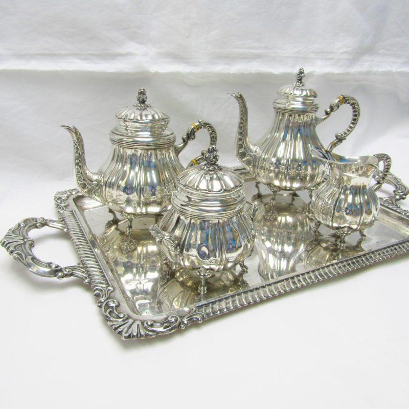 Juego de Café y té en Plata de Ley. España, siglo XX.