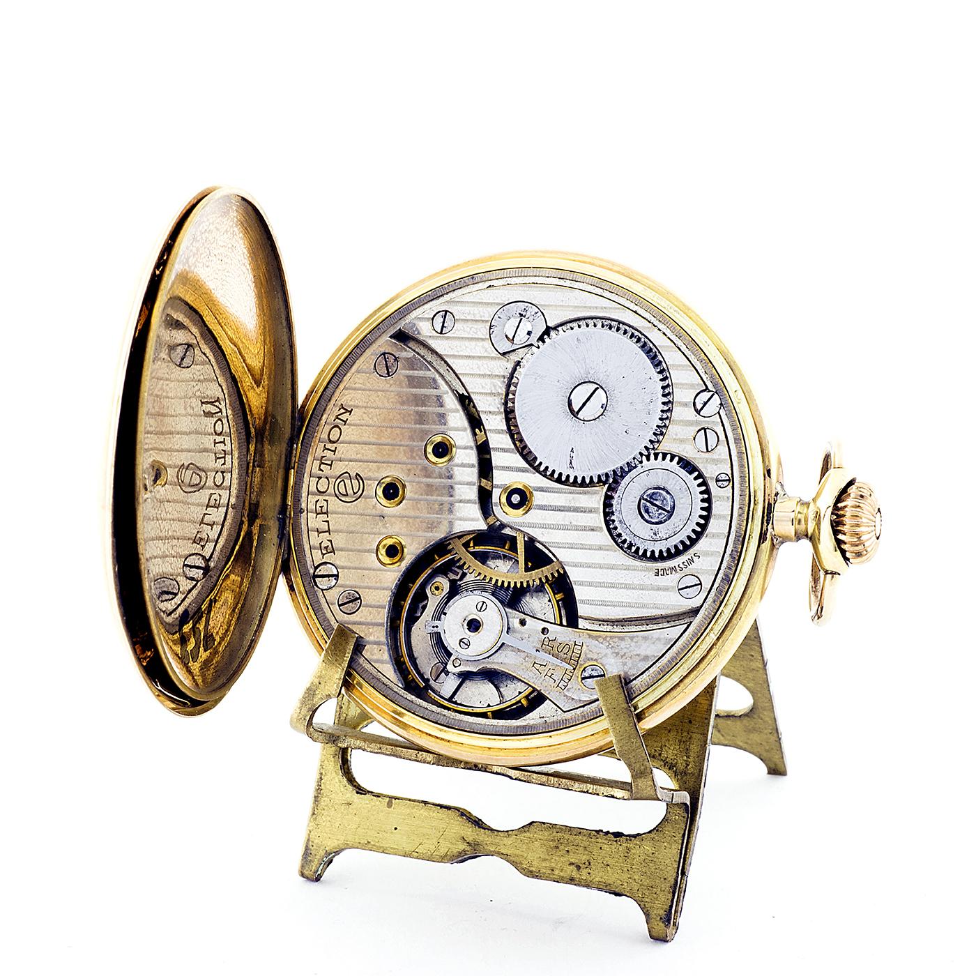 latón bronziert noble fundador tiempo relojes de bolsillo brújula con tapa G489