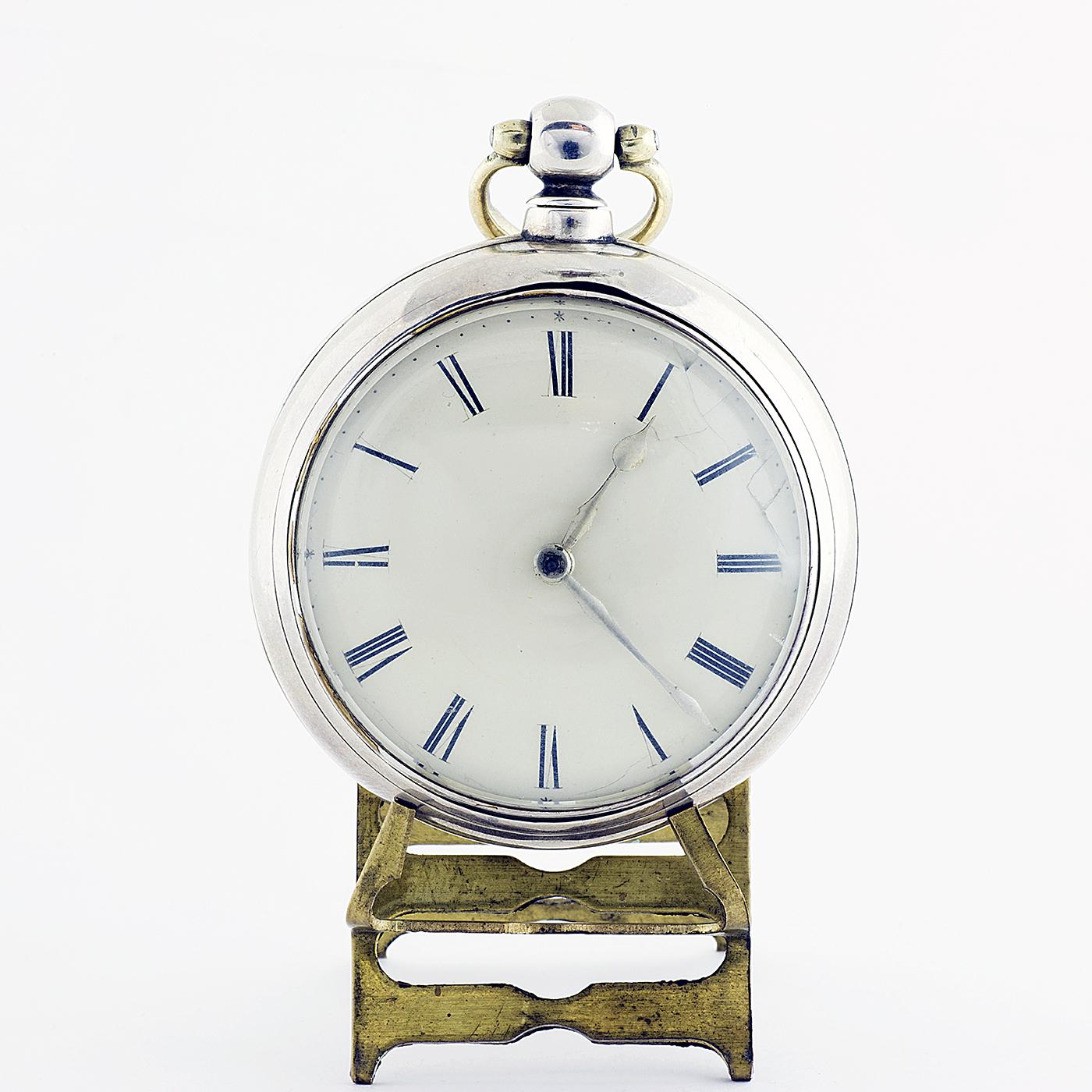 F. HILLYANL (London). Reloj de Bolsillo en PLata de Ley, para Caballero, Lepine, Verge Fuseé (catalino). Londres