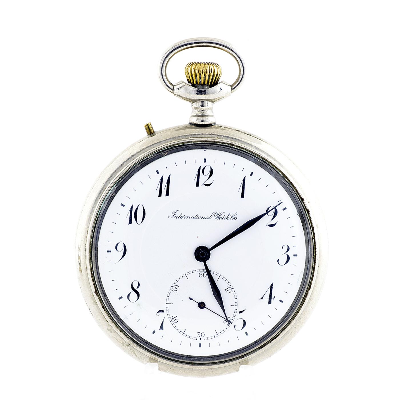 International Watch Company (IWC). Reloj de bolsillo, lepine y remontoir. Ca. ?.