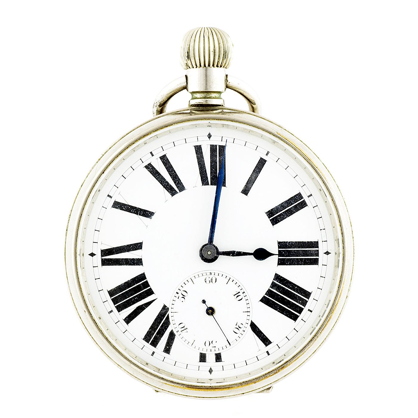 Reloj de Bolsillo, lepine y remontoir, gran tamaño. Suiza, ca. 1900