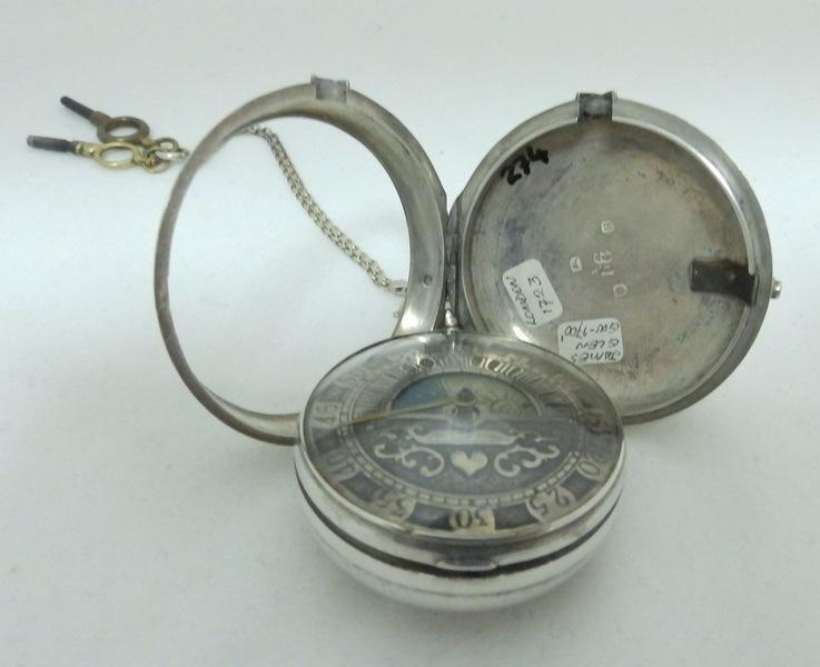 Reloj de Bolsillo de Alta Colección. Verge Fusee. Londres, 1723.