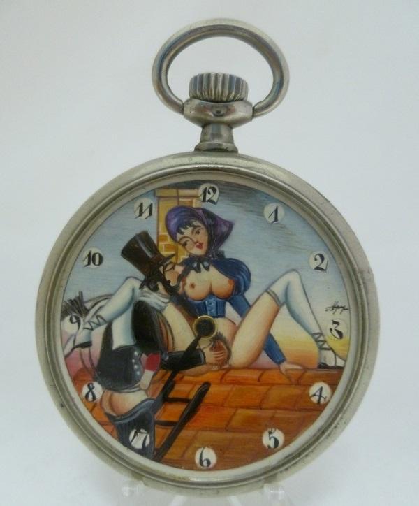 Reloj Suizo Erótico de Bolsillo - Circa 1900