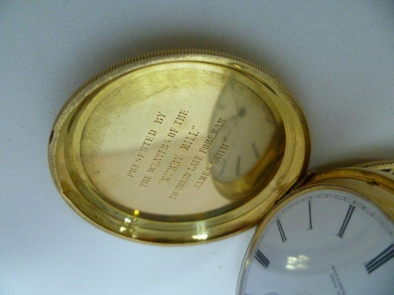 Tiffany (New York). Reloj de bolsillo. Alta colección. Circa 1845-1850.Oro 18k.