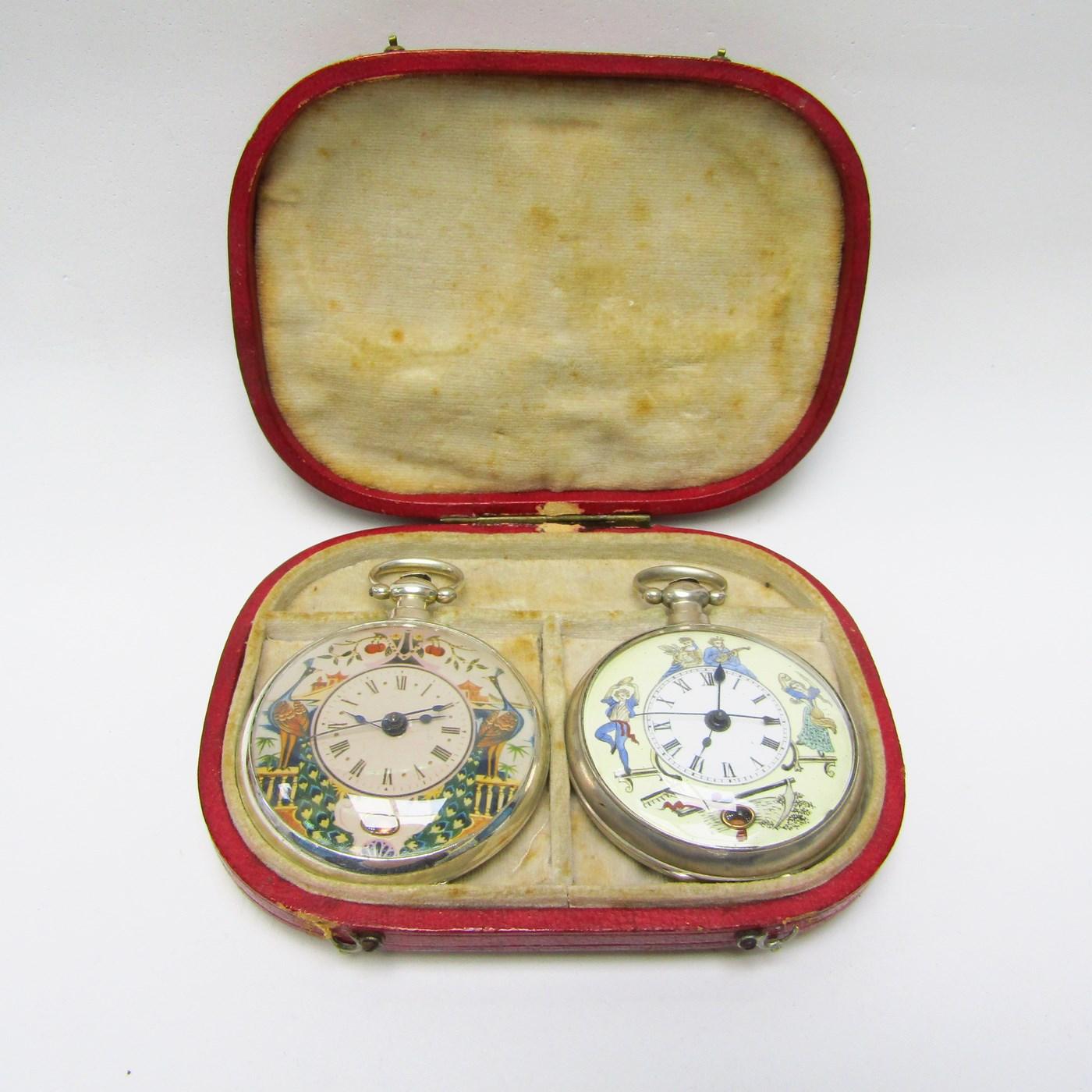 """Bovet. Conjunto de dos relojes de Alta Colección """"chinesse"""". 1810-1830"""
