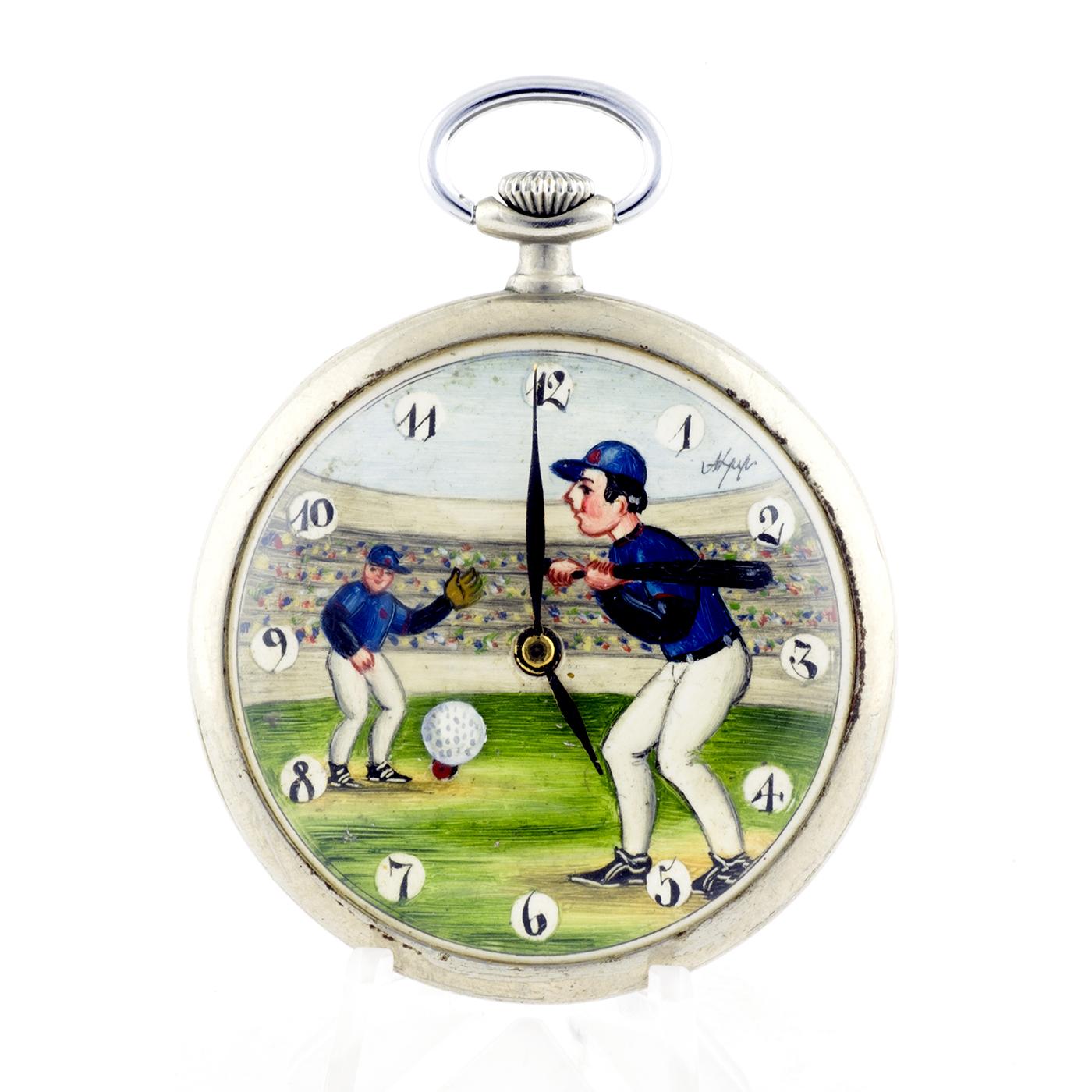 DOXA. Reloj de bolsillo, lepine y remontoir. Automatón. Pps. siglo XX.