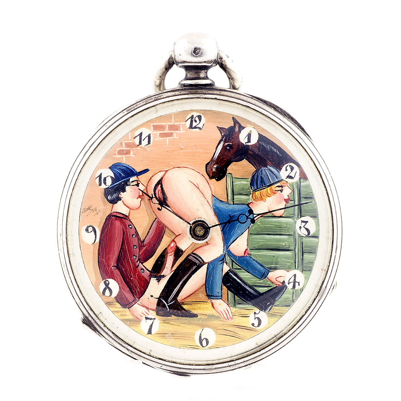 Reloj Erótico de Bolsillo, lepine. Automatón. Suiza, ca. 1925.