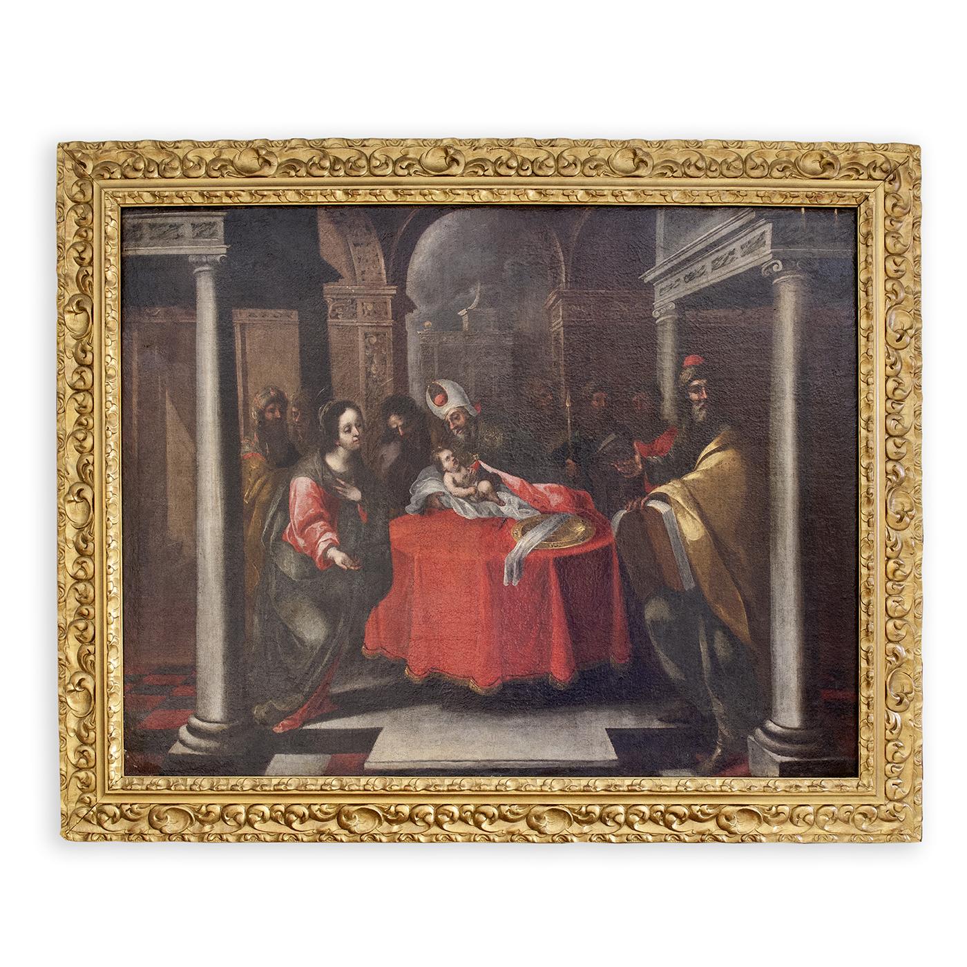 """Matías de Arteaga y Alfaro. Óleo sobre lienzo. """"La circuncisión""""."""