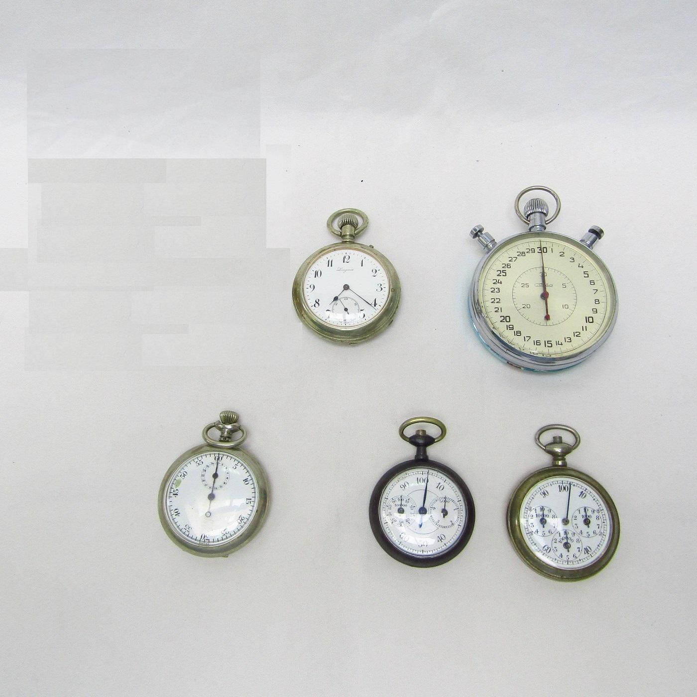 Colección con 1 Reloj, 2 Cronómetros y 2 Podómetros de Bolsillo.
