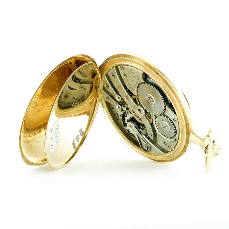 E. HOWARD WATCH CO. (Boston). Reloj de Bolsillo para caballero, lepine y remontoir. Oro 14k. USA, año 1912.