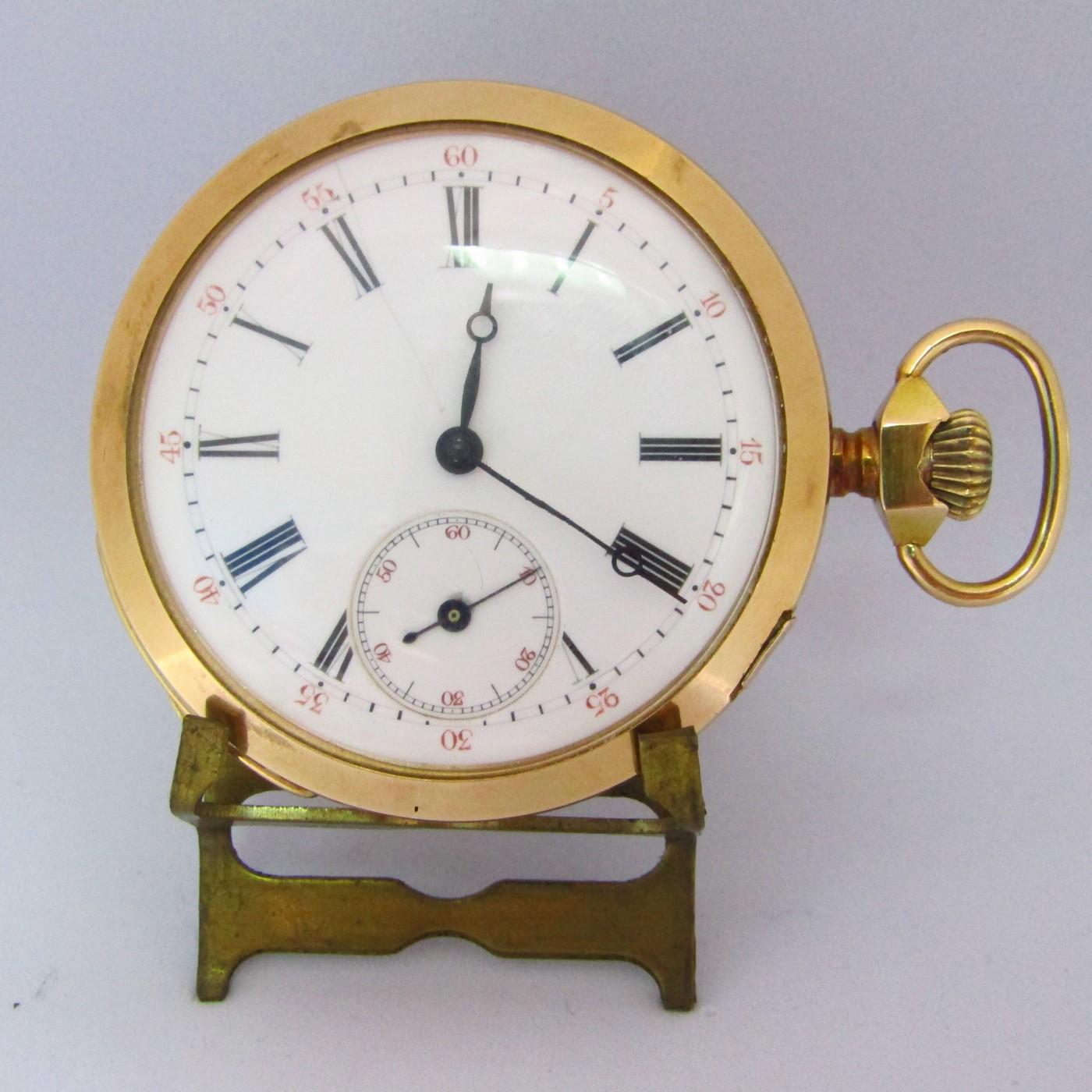 Reloj Suizo de Repetición de Horas y Cuartos, Lepine y Remontoir. Finales siglo XIX. Oro 18k.