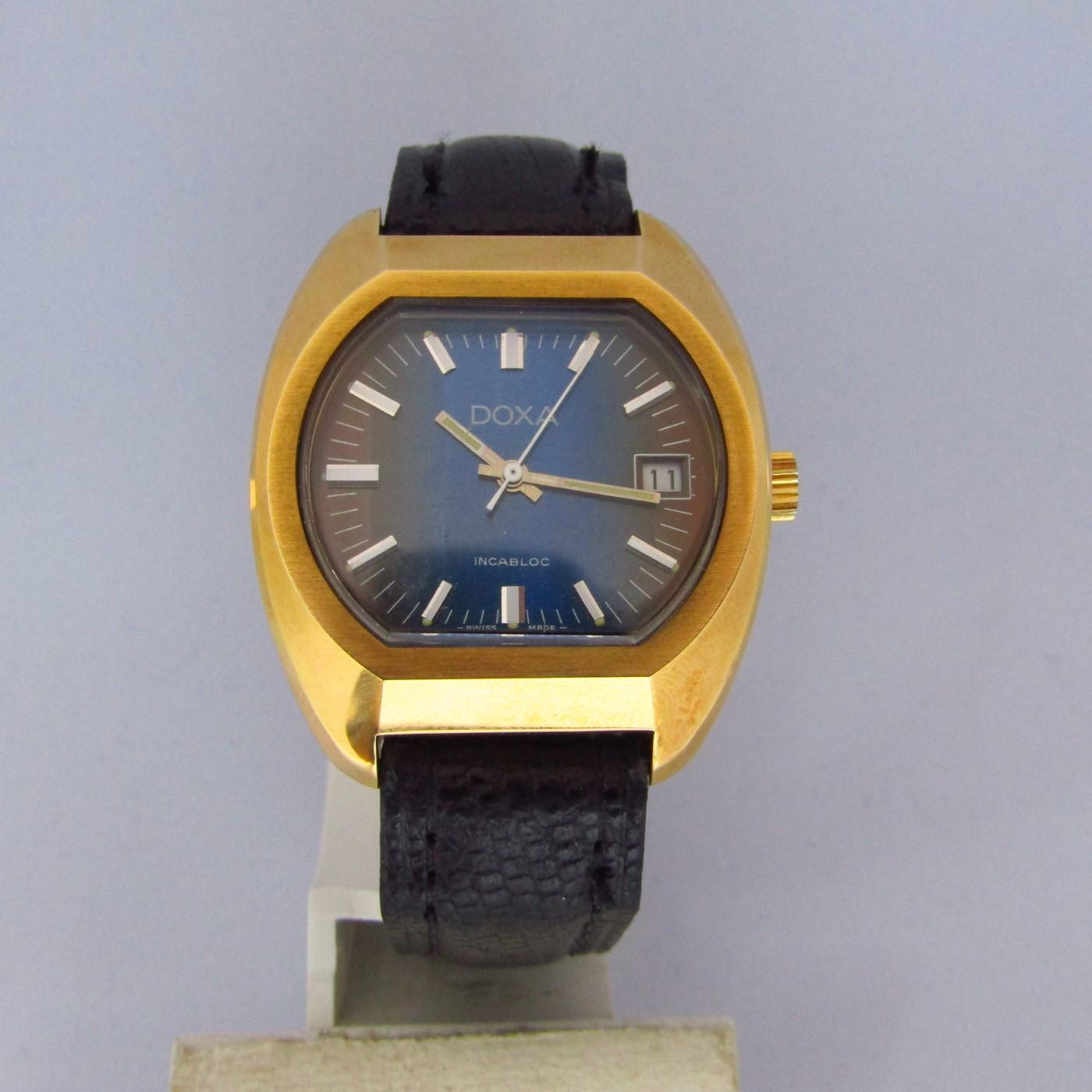 DOXA INCABLOC. Reloj de pulsera para caballero. Suiza, ca. 1970