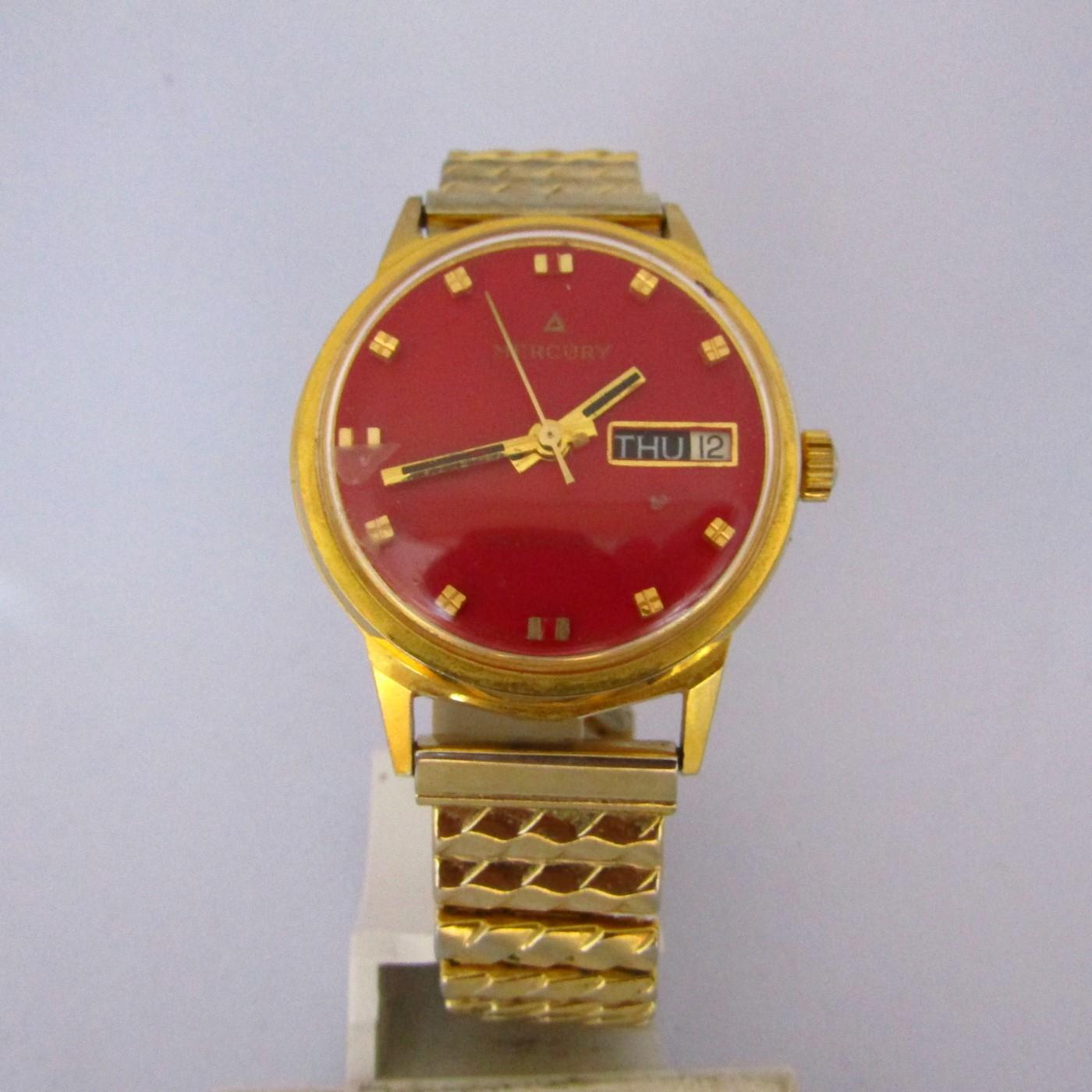 MERCURY LIFETIME MAINSPRING. Reloj de pulsera para caballero, Suiza, ca. 1980.